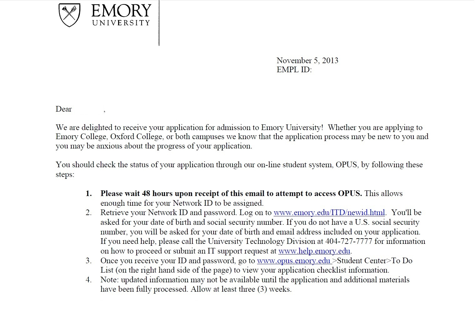 Gain knowledge of around Emory