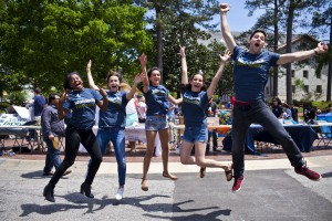 Students jump for joy